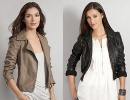 Cropped leather biker jackets for pear body shape