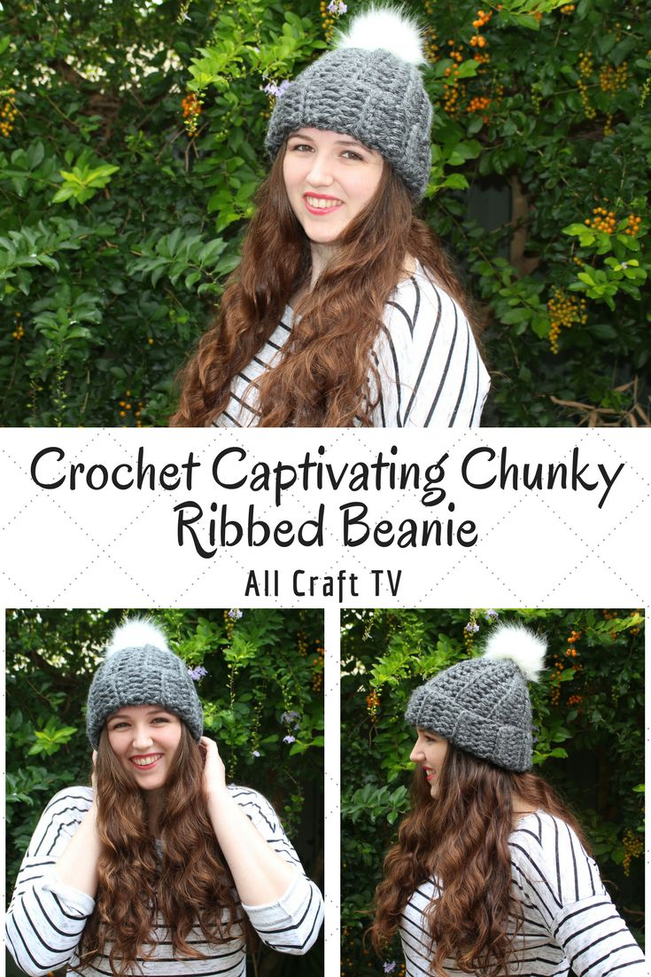 Crochet Captivating Chunky Ribbed Beanie by All Craft TV