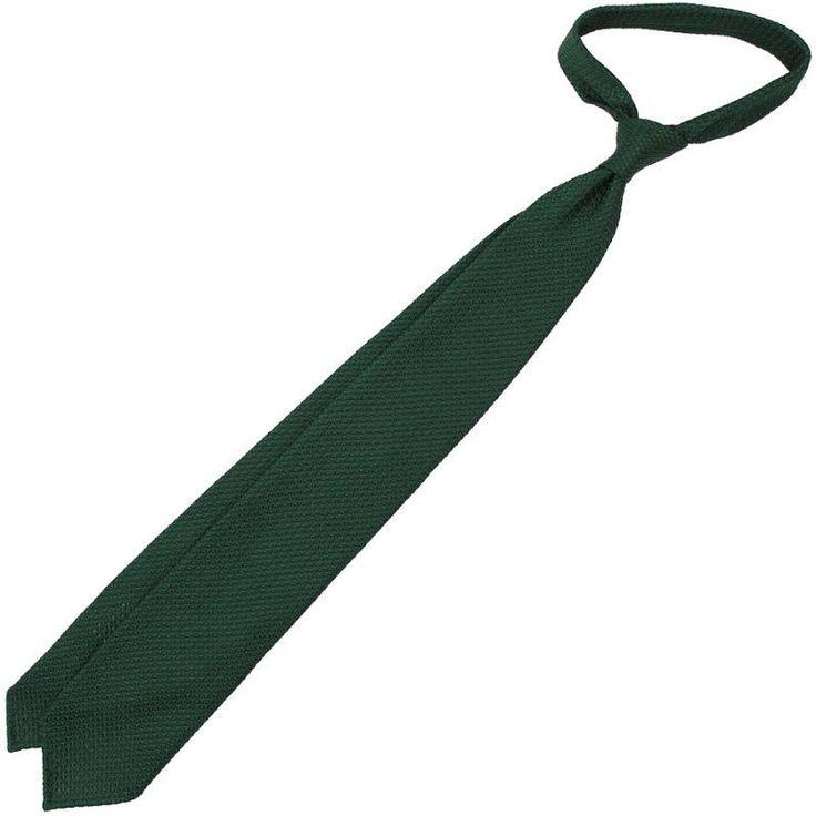 Grenadine / Garza Grossa Tie - Forest Green - Hand Rolled