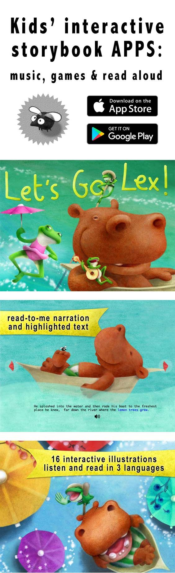 An engaging story for small kids, encourages learning new languages and creativity!