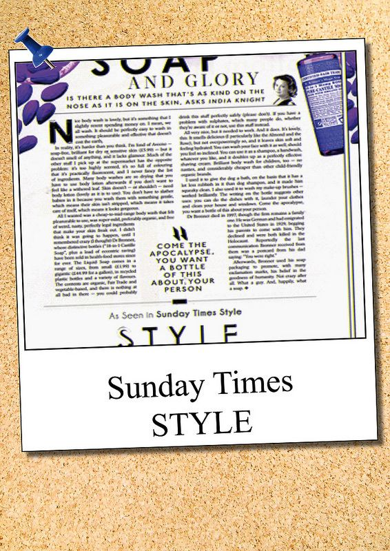 Sunday Times Style Dr.Bronners | wholefoods.ie