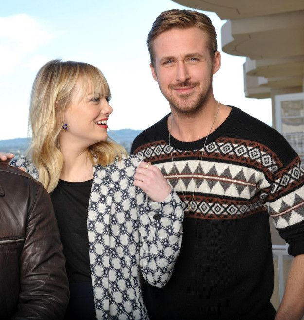 Awwwww. | This Is For Everyone Who Likes To Pretend Ryan Gosling And Emma Stone Are Dating