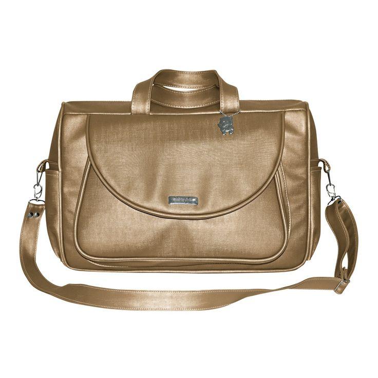Bolsa Dourada : Bolsa elegance dourada m enxoval do beb?