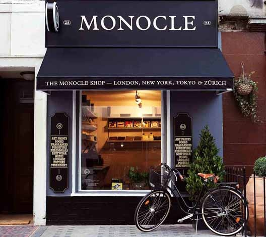 Monocle storefront.