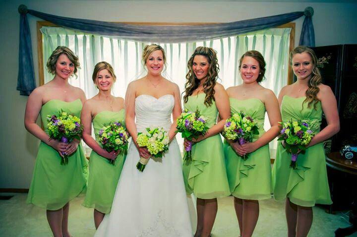 Light green bridesmaid dresses wedding pinterest for Light green wedding dress