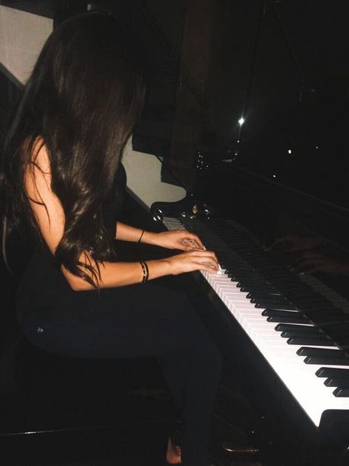 """((Open rp with Madi! She's singing btw)) """"If you believe that there's something between you and me. Baby honestlyy yeahh"""" ((she's singing """"Bring It Back"""" by Shawn Mendes )). I don't notice you're sitting behind me. I stop singing and sigh. You say.."""