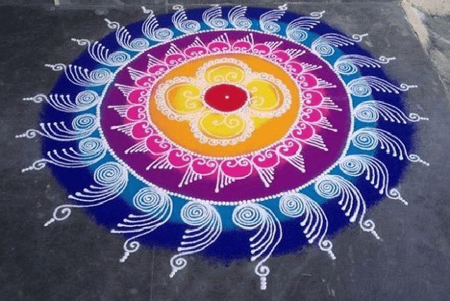 attractive rangoli design for diwali