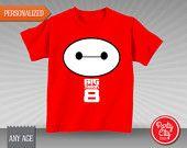 Big Hero T-Shirt Transfer - PERSONALIZED - Custom Disney Pixar Big Hero 6 Tshirt Decal - Baymax (BIGre01)