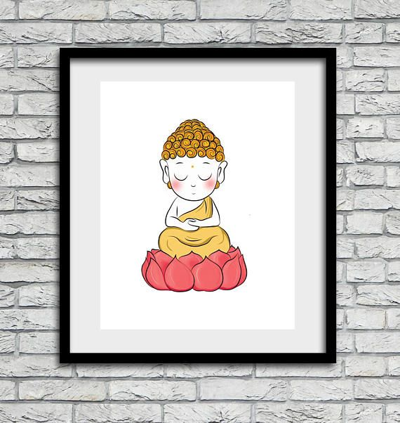 Buddha wall art, Little Buddha, Buddha print, kids room art, gift, home decor, Buddha, little Buddha gift,  instant downloadable, art prints