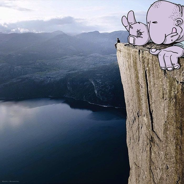 """You're Not Alone  """"Photo Invasion"""" - The Awesome Illustrations Combined With Instagram Photos • Page 3 of 5 • BoredBug"""