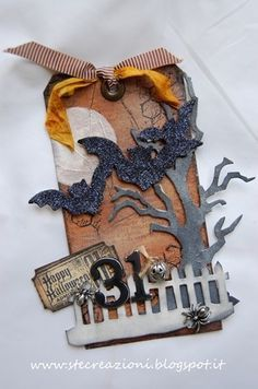 photo of tim holtz halloween tag - Google Search