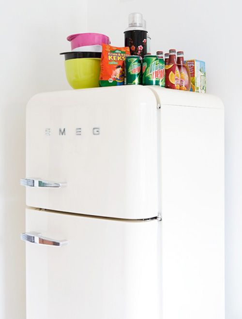 3 Smeg 50's style refrigerator