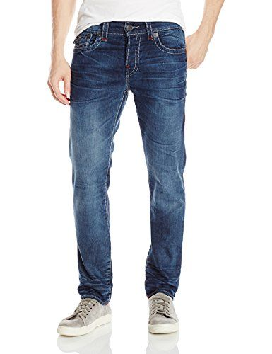 True Religion Men's Rocco Relaxed Skinny Fit Super T Jean