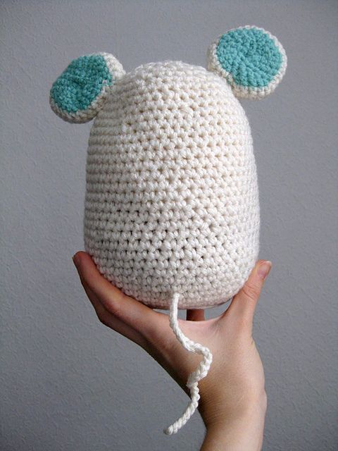The cutest mouse doorstop made by Debbie Hill using the free Amigurumi Mouse Doorstop pattern by Lion Brand here http://www.lionbrand.com/patterns/90694AD.html?r=1