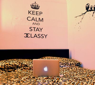 Ah I want that wall sticker!Wall Art, Teenagers Bedrooms, Wall Decals, Room Ideas, Beds Sheet, Keep Calm, Wall Stickers, Stay Classy, Bedrooms Ideas