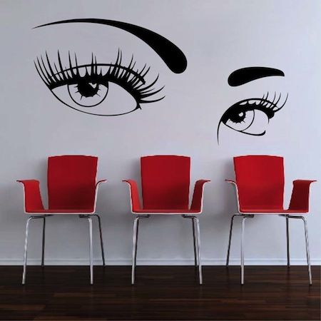 mysterious eyes wall decal - Wall Art Design Decals
