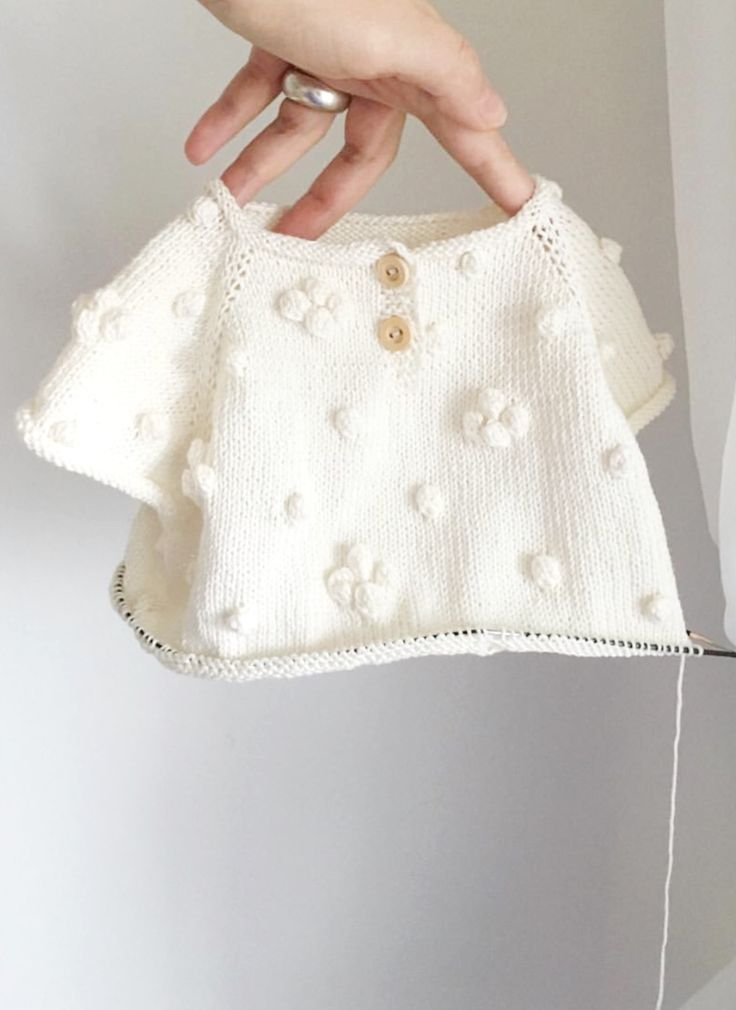 Pretty Hand Knitted Baby Sweater | Velvetknit on Etsy