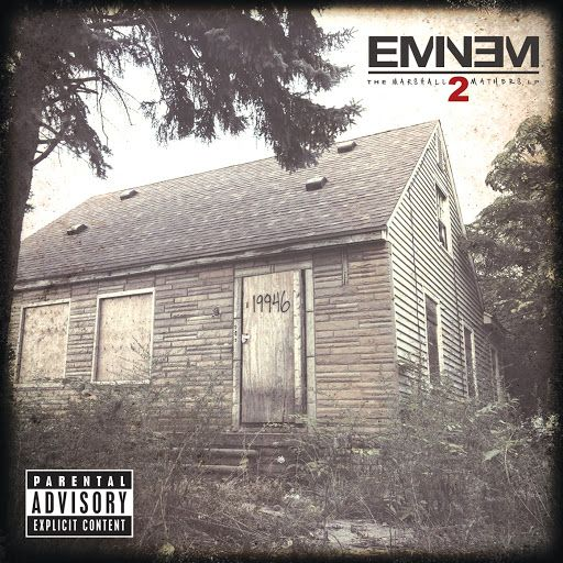 """""""I own a mansion, but live in a house.  A king bed, but I sleep on the couch.  I'm Mr. Brightside glass is half full, but my tank is half empty, gasket just blew....""""  #SoFar #Eminem #MMLP2"""