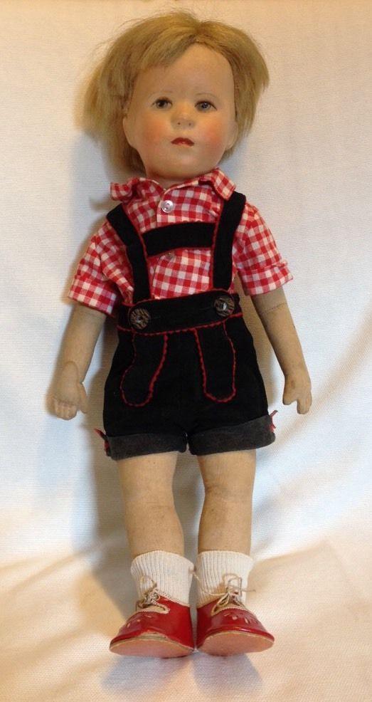 Käthe Kruse Puppe Junge Friedebald 35 cm 50er Jahre US-Zone bespielt Nr.2211