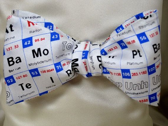 Mens SILK BOW TIE Periodic Table Chemist Chemistry Science Scientist BowTie on Etsy, $44.00