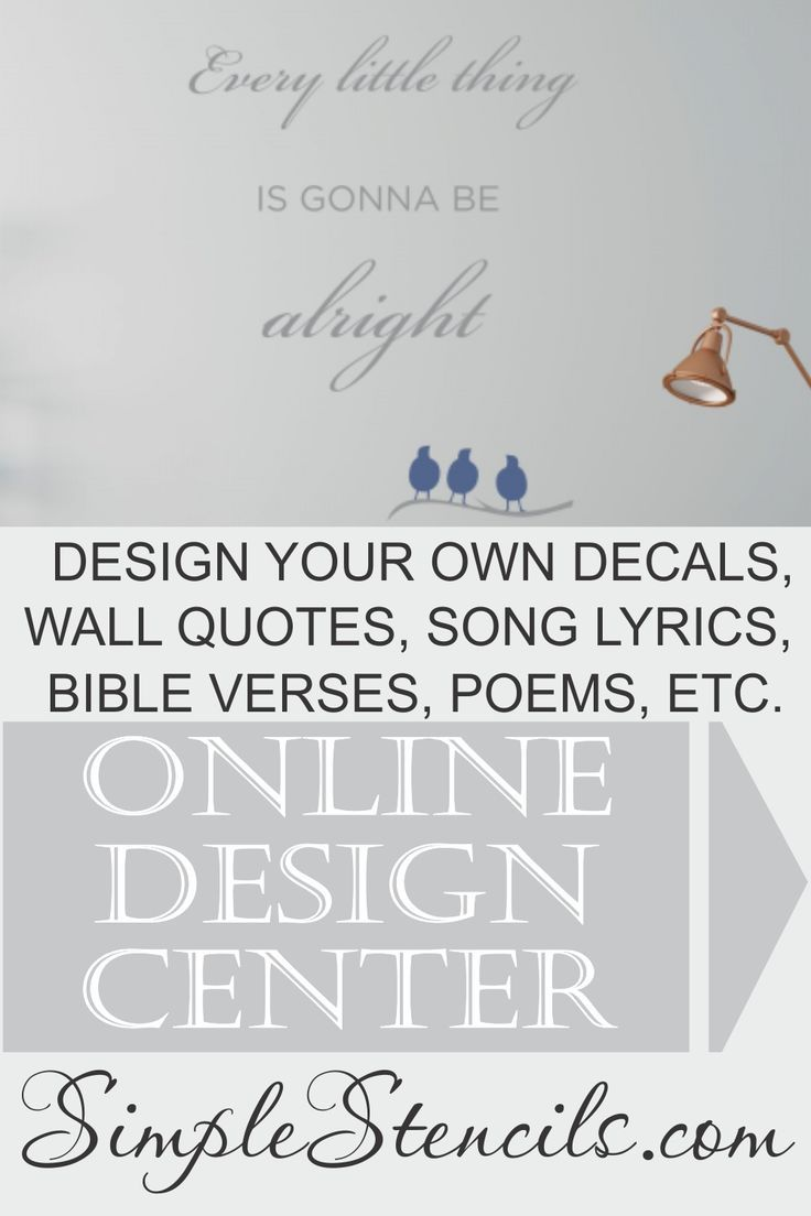 Vinyl Transfer Quote Graphic Decal Decor Art Stencils Song Lyric Wall Stickers