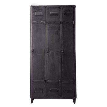 Nice Kleiderschrank aus Metall B cm schwarz von Maisons du Monde Die gesamte Welt der M bel und Dekorationen finden Sie in unserem Shop