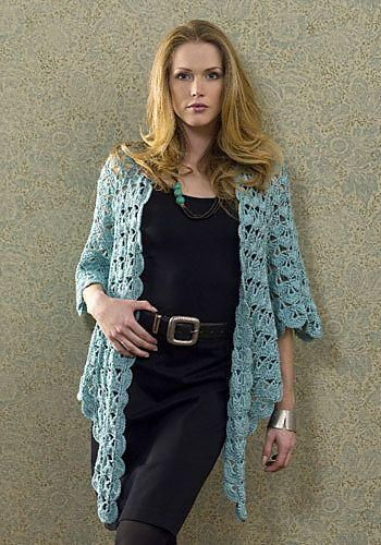 Crochet this amazing Lightweight Zen Jacket to wear any time of year. The lacy design is elegant, yet casual, and it would also make a great gift. Free crochet patterns like this one are brilliant. You can rest assured that this crochet sweater pattern will keep you warm during the coldest winter months. Best of all, it's super stylish, so you can wear it to any event. Make one for yourself and watch as you turn heads. This free crochet pattern looks like something you could buy at a fanc...