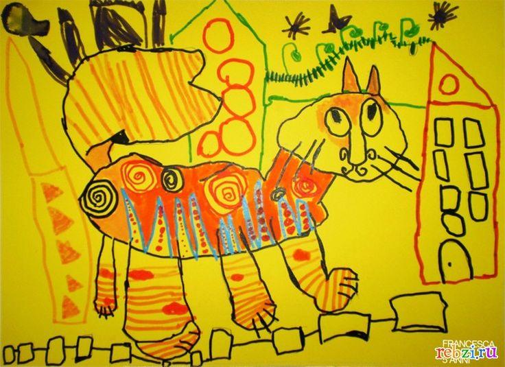 Детский рисунок: МОЙ РЫЖИК (ФРАНЧЕСКА, , 6 лет, ИТАЛИЯ. МИЛАН)