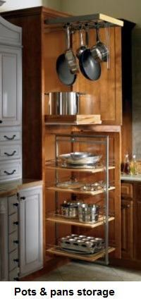 Add A Pantry To A Small Kitchen Image Add Pull Out Storage To A Small Pantry Or Cabinet KITCHEN