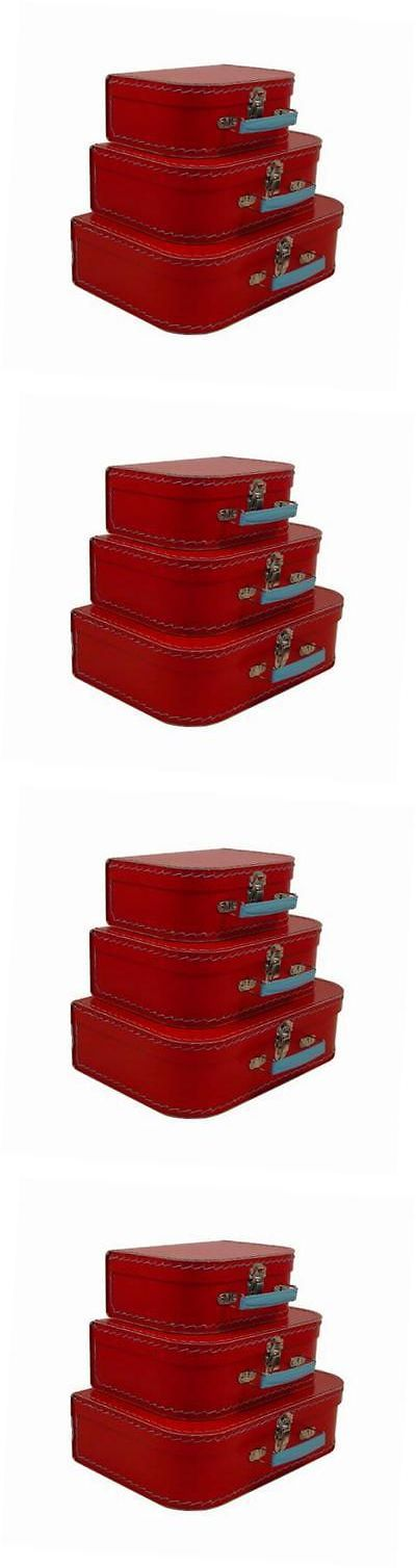Other Luggage Accessories 173521: Vintage Travelers Mini Suitcases, Set Of 3,Red -> BUY IT NOW ONLY: $45.94 on eBay!