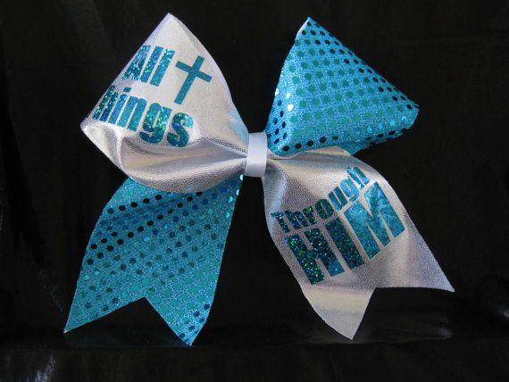 Cheer Bow Religious Cross on Etsy, $12.00