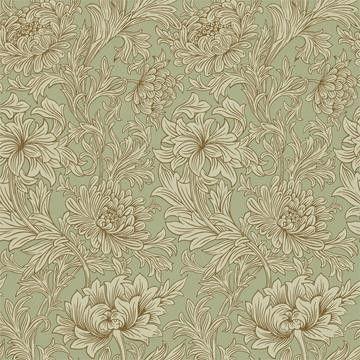 Beställ Chrysanthemum Toile grön tapet från William Morris®