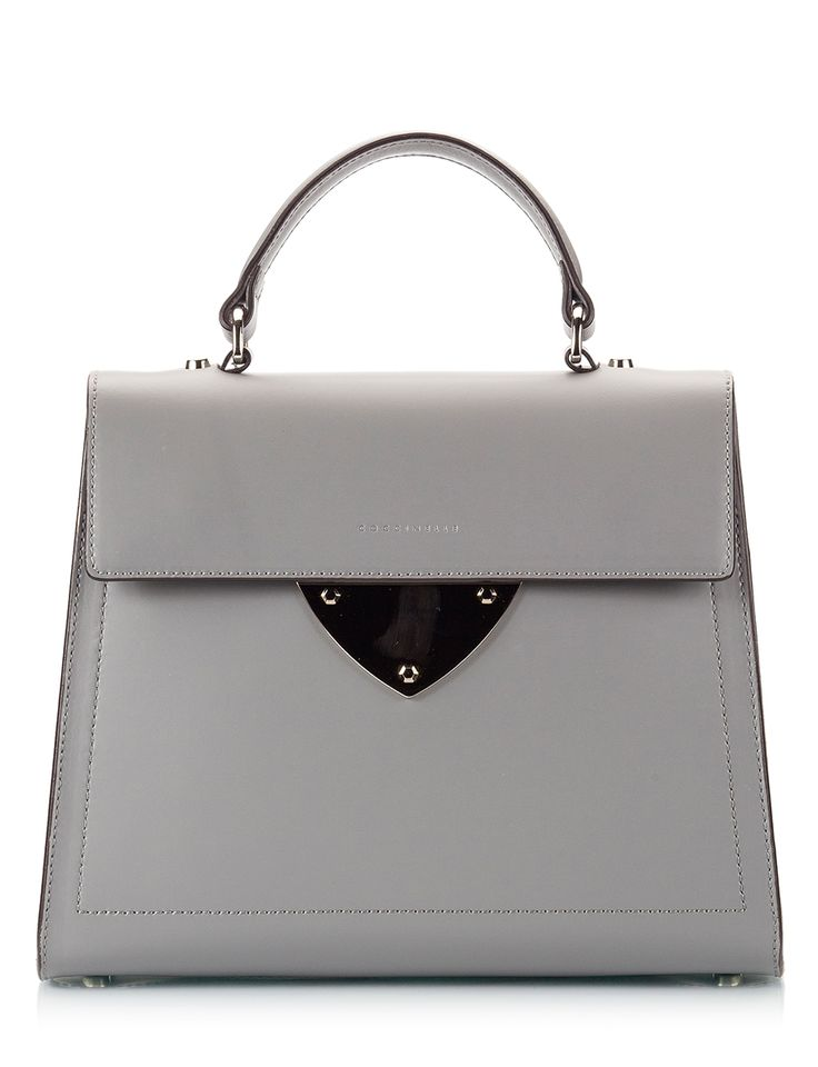 Coccinelle B14 Grey polished leather top-handle mini bag Μαύρο - http://women.bybrand.gr/coccinelle-b14-grey-polished-leather-top-handle-mini-bag-%ce%bc%ce%b1%cf%8d%cf%81%ce%bf/
