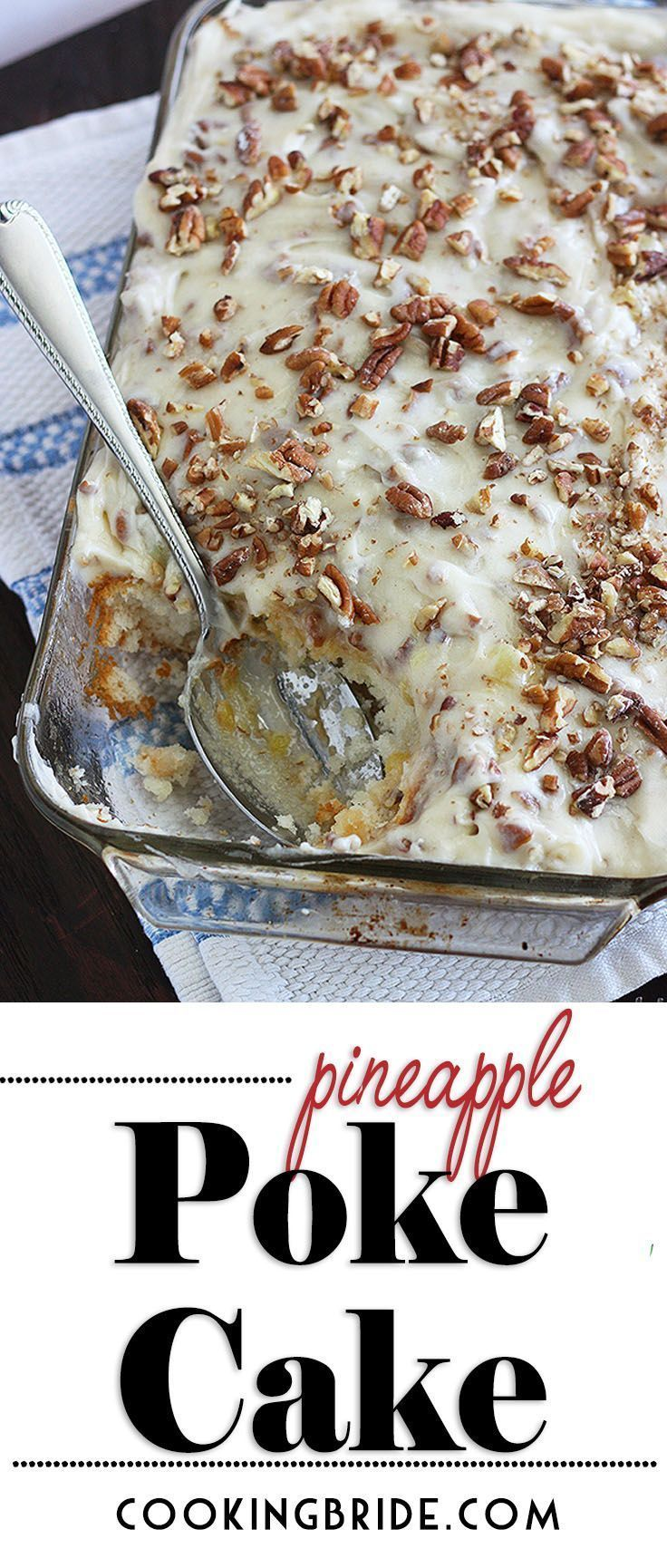 Le gâteau poke à l'ananas est un dessert rapide et simple avec de grands résultats. Blanc clair …   – Snacks and potlucks!