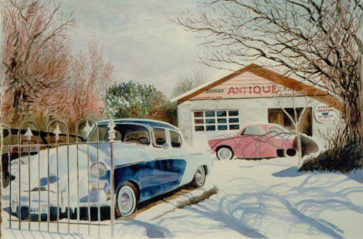 Portrait of old car lot located in Nephi, Utah.