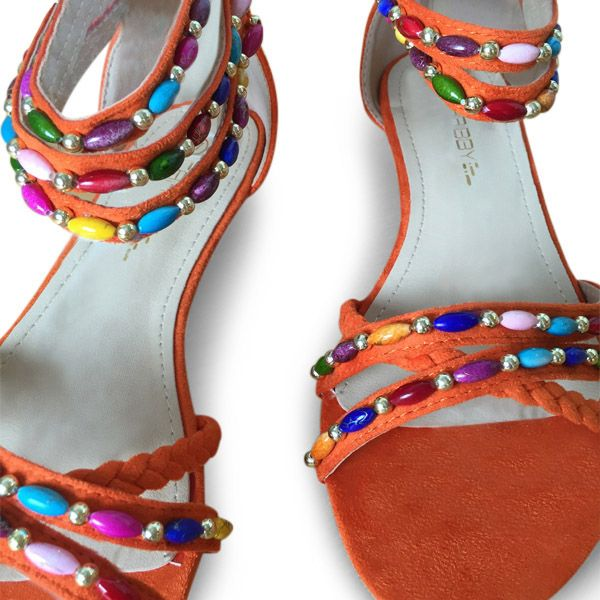 Fall in love with orange beauties! www.caribbyshoes.com