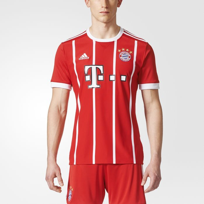 adidas FC Bayern Munich Home Replica Jersey - Mens Soccer Jerseys