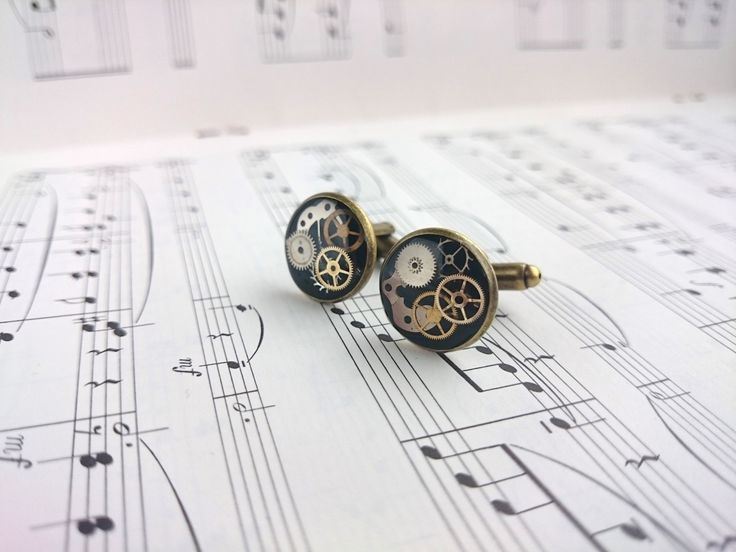 Groom Cufflinks. Best Man Cufflinks. Father of the Bride Cufflinks. Wedding Cufflinks. Made with real watch parts. Handmade in Devon. - pinned by pin4etsy.com