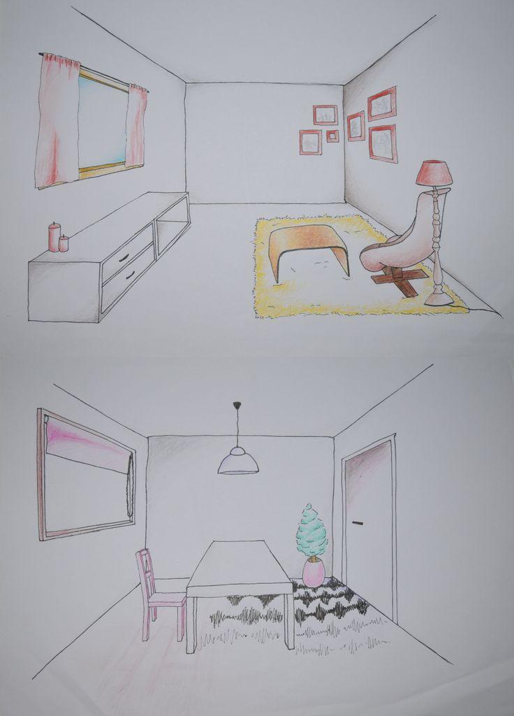 27 best images about opdrachten projecten on pinterest for Interieur tekenen