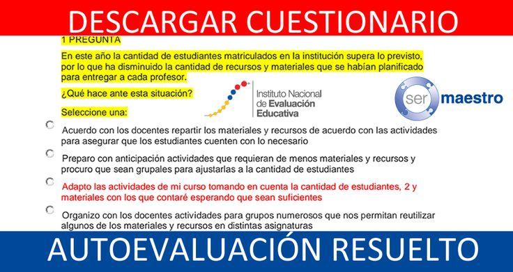 AUTOEVALUACIÓN -CUESTIONARIO-RESUELTO-INVEVAL | Ecuador Consultas