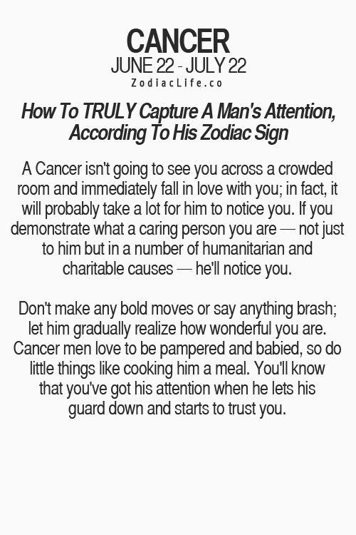 How to tell if a cancer man loves you