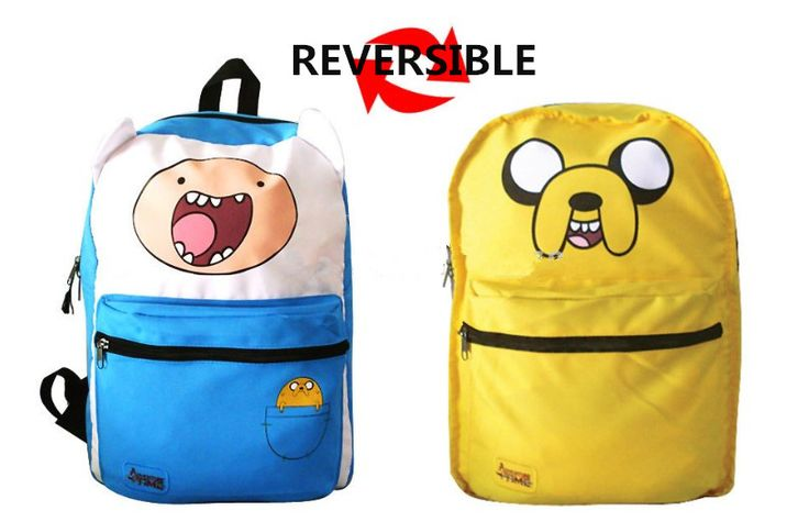 Original Adventure Time Backpack ( ^ ^)っ Canvas Bag Finn and Jake Double-Sided School ჱ Bags for Boys Girls Casual Schoolbag KnapsackOriginal Adventure Time Backpack Canvas Bag Finn and Jake Double-Sided School Bags for Boys Girls Casual Schoolbag Knapsack