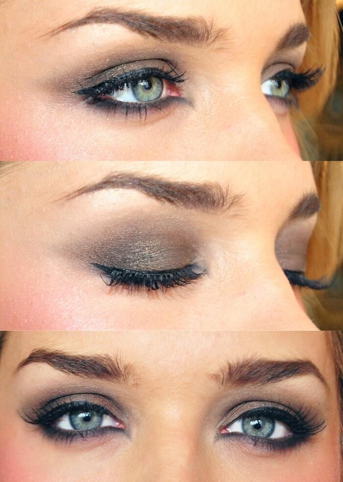 Smokey brown eyelook
