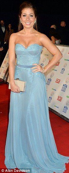 True blue: Made In Chelsea star Francesca Hull, Hollyoaks actress Nikki Sanderson, Emmerdale star Gemma Oaten and Corrie's Debbie Rush opted...