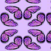 Purple Butterfly Wings on Lilac by p__d__frasure