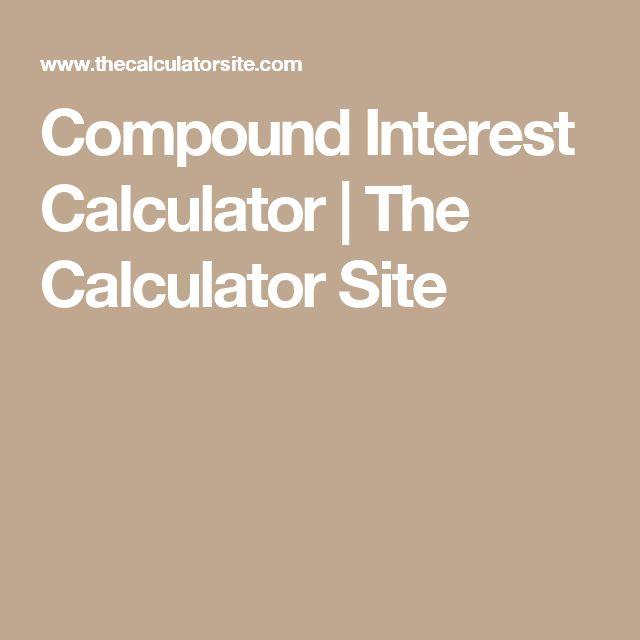 Compound Interest Calculator | The Calculator Site