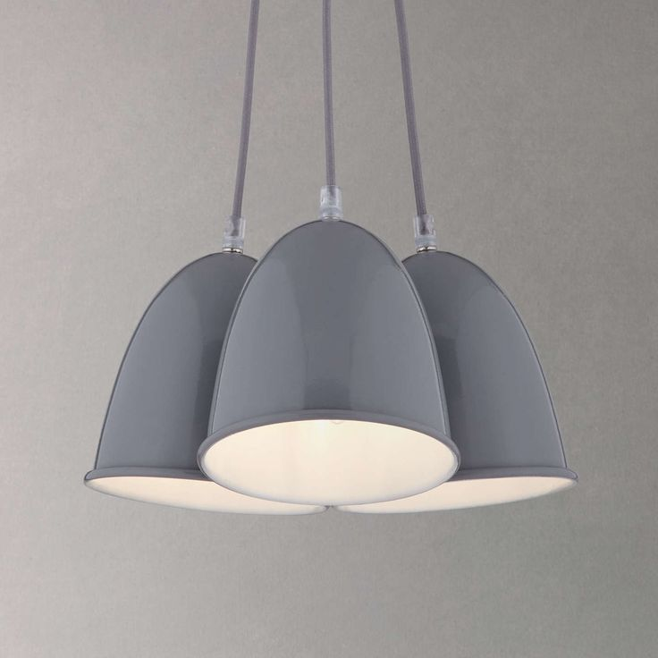 BuyHouse by John Lewis Riley 3 Light Ceiling Pendant, Grey Online at johnlewis.com