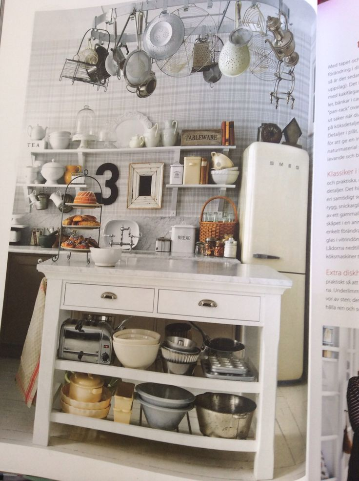 "Small kitchen island From the book ""Welcome Home"" by Leila Lindholm"