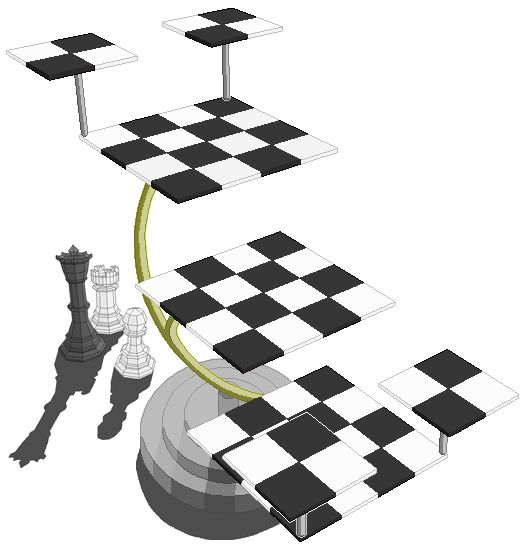17 best images about chess on pinterest game of lego chess and one night in bangkok - Tri dimensional chess board ...