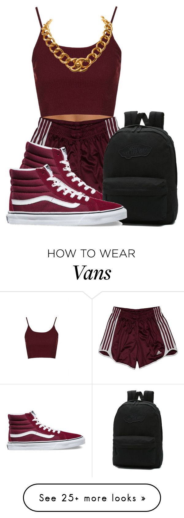 """❤️"" by raquelregina on Polyvore featuring Topshop, adidas, Vans and Chanel"